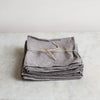 eco plant dyed grey linen napkins uk