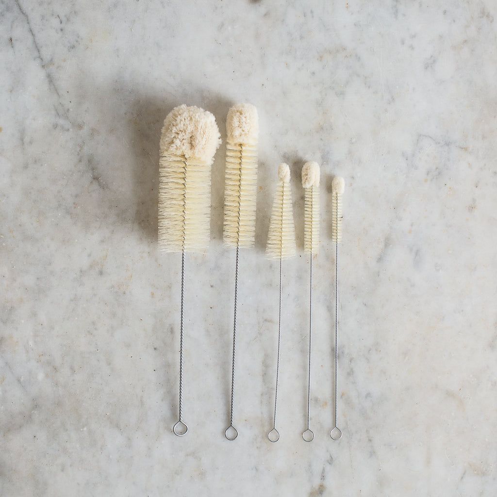 natural cotton tipped cleaning brushes