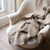 TEXTURED HANDWOVEN MERINO WOOL BLANKET IN NATURAL