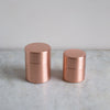 copper tea and coffee caddy