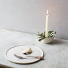 INGREDIENTS LDN cradle candle bowl with decorative olive leaves