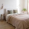 luxury Belgian linen bed cover throw blanket