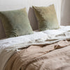 ethical Belgian linen bed cover blanket
