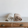 Belgian linen blanket throw bed covers