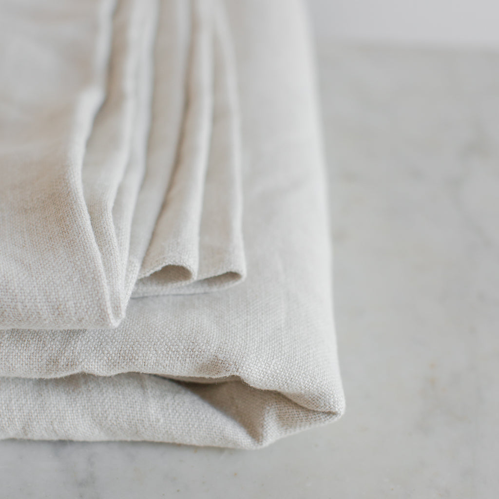 pure Belgian linen blanket throw in light beige