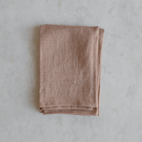 Belgian linen napkin set in burnt copper