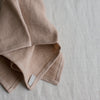 light brown Belgian linen napkins
