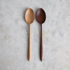 HAND CARVED BLACK WALNUT COOKING SPOON