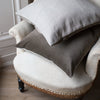 handmade velvet and linen grey cushion covers UK