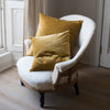 Kirsten Hecktermann velvet mustard cushion cover
