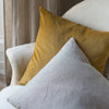 Kirsten Hecktermann velvet and linen cushion cover