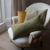 luxury hand dyed linen and velvet cushion covers uk