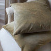 HAND DYED VELVET JEWEL CUSHION COVERS IN DAPPLED OLIVE