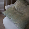 HAND DYED VELVET JEWEL CUSHION COVERS IN DAPPLED SAGE