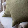 hand dyed vintage line cushions in green