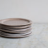 HAND FORMED CAKE PLATE IN GREY