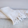 handwoven  organic cotton Turkish towel s with tassels
