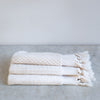 tasseled handmade organic cotton bath towels