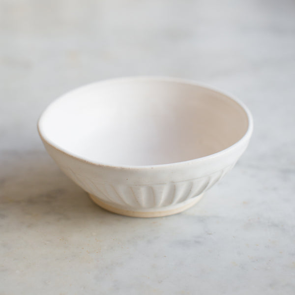 INGREDIENTS LDN handmade stoneware fluted bowl