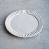 handmade stoneware fluted dinner plate UK