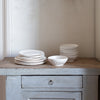 handmade stoneware fluted bowls and plates