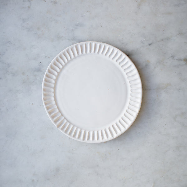 INGREDIENTS LDN handmade stoneware fluted side plate