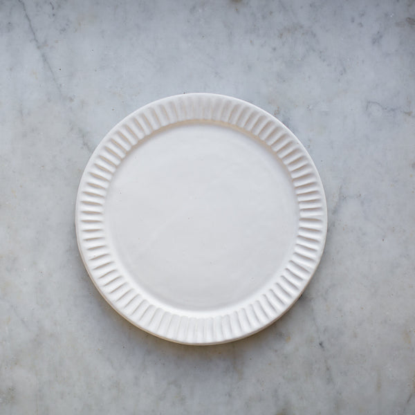INGREDIENTS LDN handmade stoneware fluted dinner plate