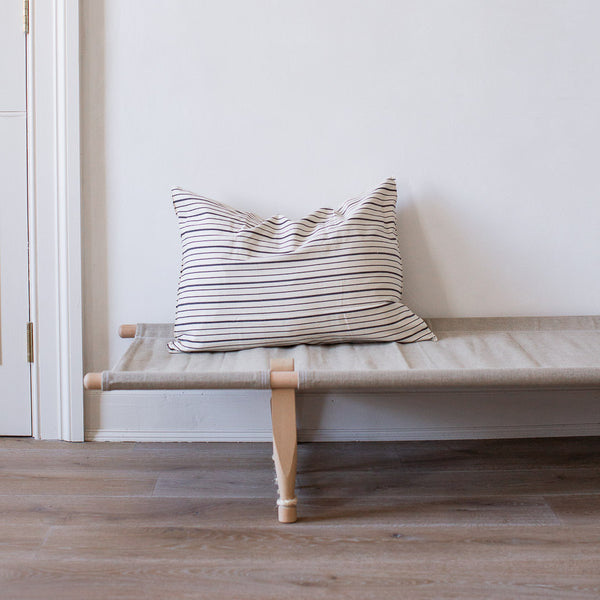 EXTRA LARGE HANDWOVEN COTTON CUSHION COVER IN BRETON STRIPES