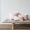 handwoven cotton cushion covers in pale pink