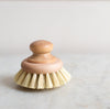 natural wood and tampico scrubbing brush