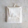 HANDMADE WAFFLE LINEN KITCHEN TOWEL IN OFF-WHITE