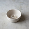 CRADLE CANDLE BOWL IN MATTE WHITE