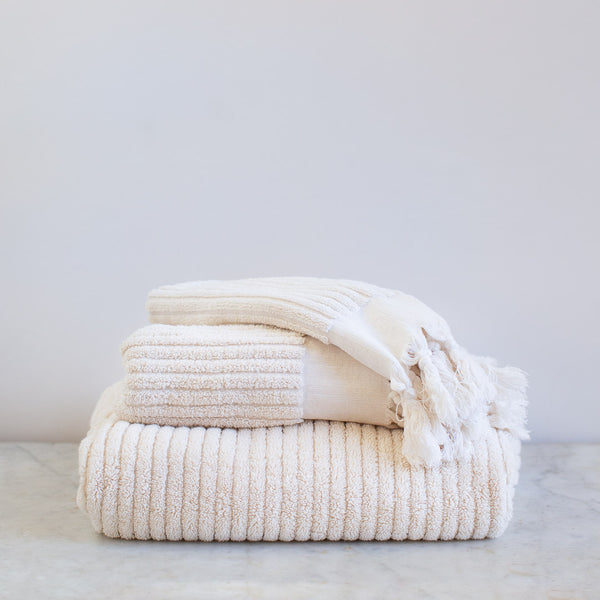 handwoven  organic cotton Turkish towel