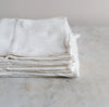 organic cotton kitchen towels in off white