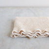 HANDWOVEN WAFFLE TOWEL IN NATURAL UNBLEACHED ORGANIC COTTON