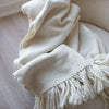 Handwoven Natural Merino Wool Blanket