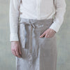 plant dyed linen apron uk