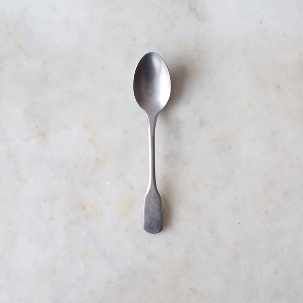 Stone washed tea spoon