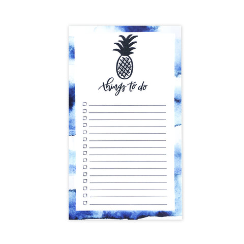 Indigo Pineapple Notepad