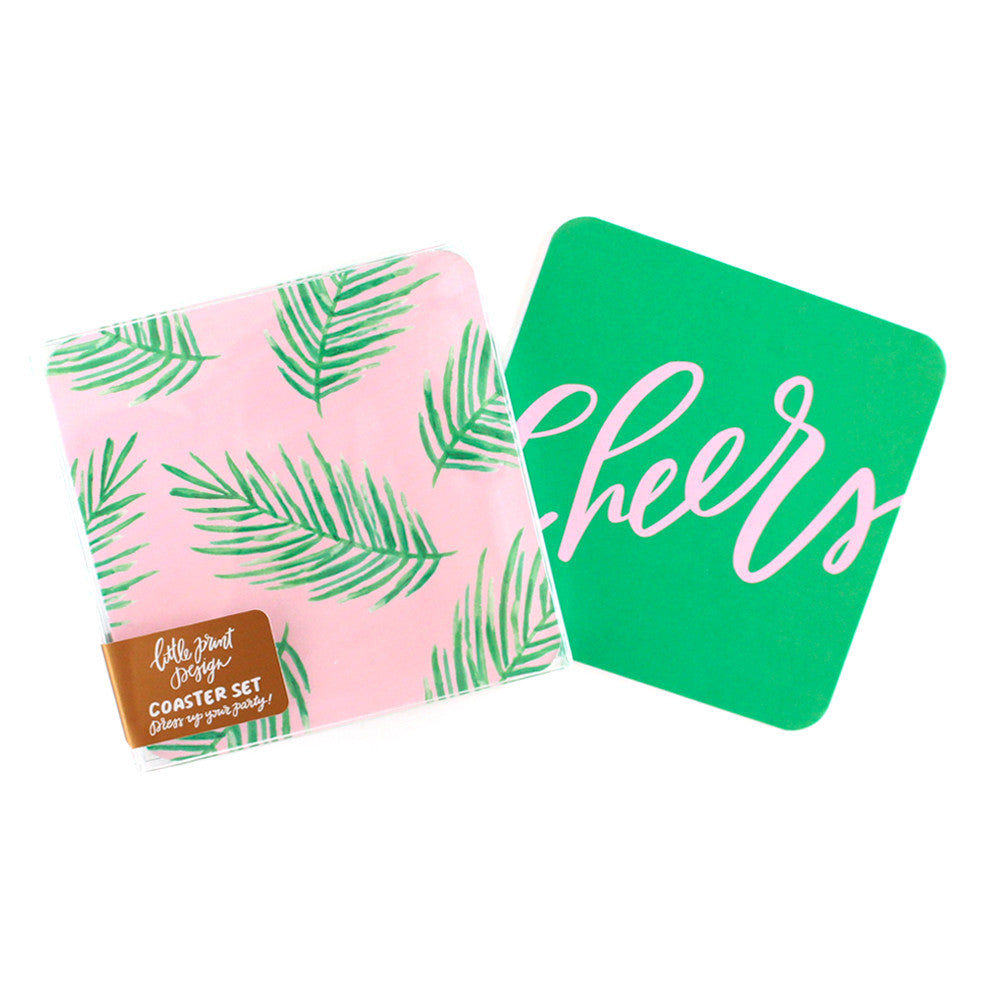 Tropical Palm Cheers Coasters