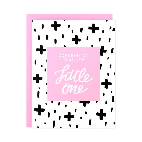 Bold Pattern Baby Girl Card