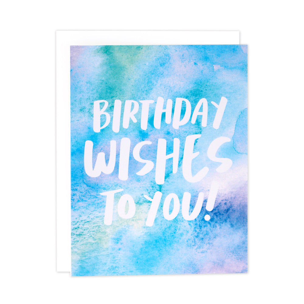 Watercolor Wishes Birthday Card