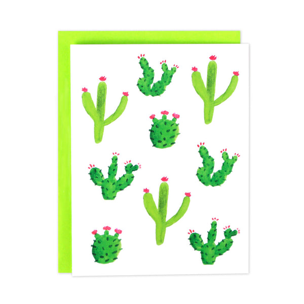Cactus Watercolor Blank Cards