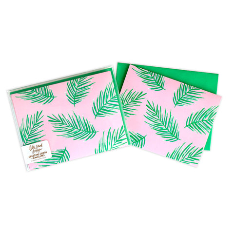 Tropical Palms Blank Cards