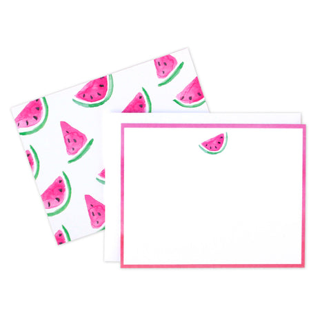 Watermelon Ombre Flat Notecards