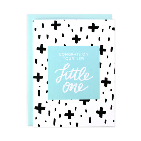 Bold Pattern Baby Boy Card