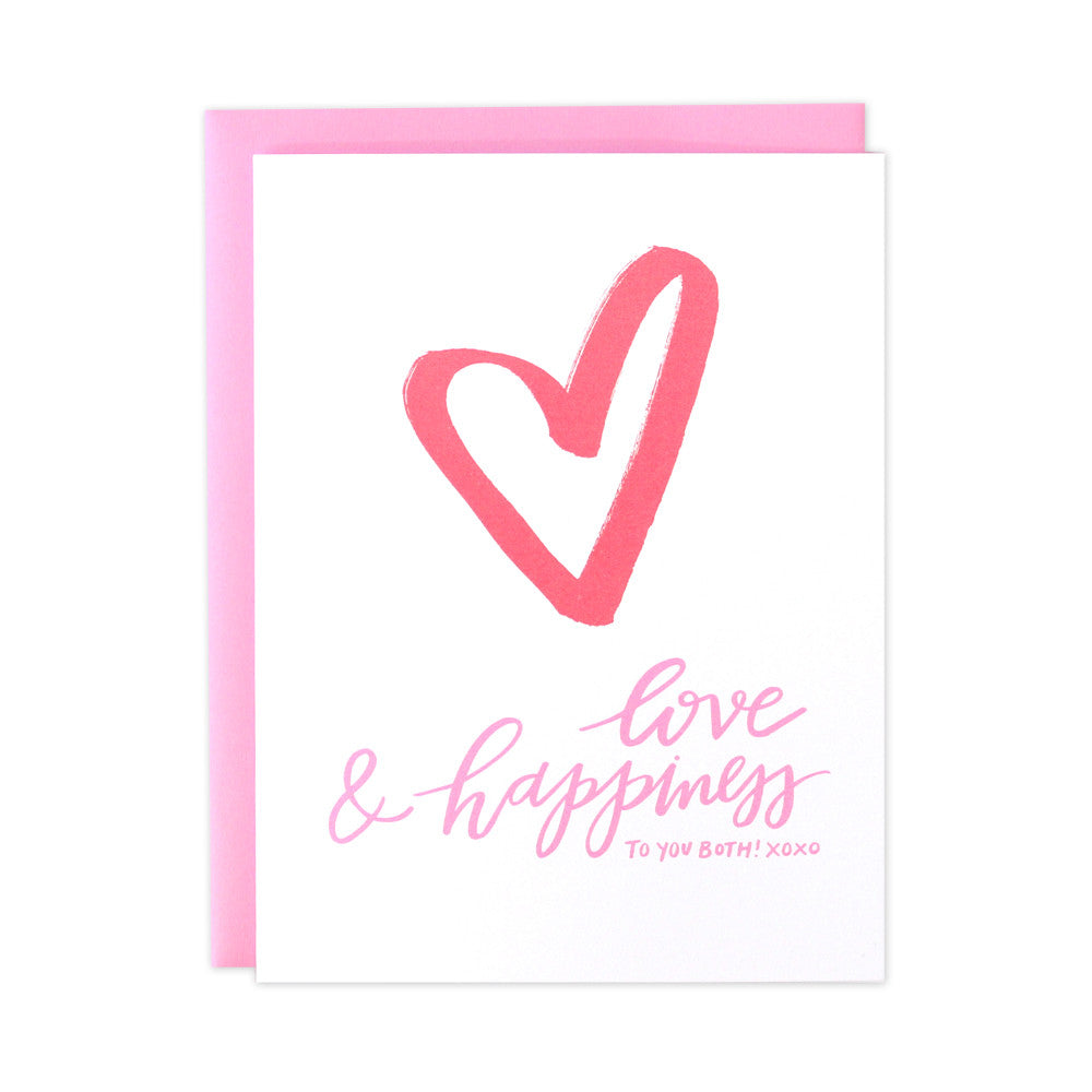 Love & Happiness Wedding Card