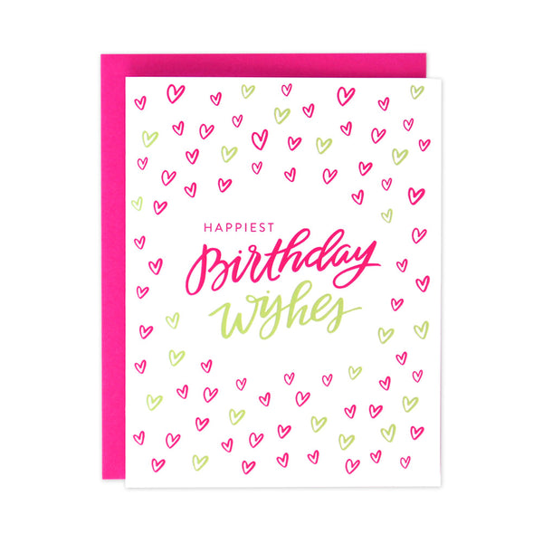 Happy Hearts Birthday Card