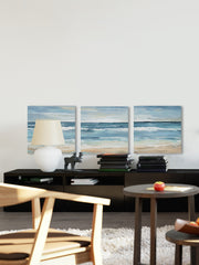 Blue Waves Triptych