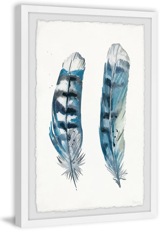 Blue Striped Feathers